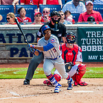 30 April 2017: New York Mets outfielder Curtis Granderson at bat in the 5th inning against the Washington Nationals at Nationals Park in Washington, DC. The Nationals defeated the Mets 23-5 in the third game of their weekend series. Mandatory Credit: Ed Wolfstein Photo *** RAW (NEF) Image File Available ***