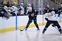 June 29, 2018: Boston Bruins forward Jack Becker (72) plays at the blue line during a scrimmage at the Boston Bruins development camp held at Warrior Ice Arena in Brighton Mass. Eric Canha/CSM