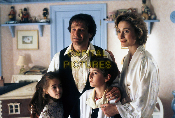 Hook (1991) <br /> Robin Williams, Charlie Korsmo, Caroline Goodall &amp; Amber Scott<br /> *Filmstill - Editorial Use Only*<br /> CAP/KFS<br /> Image supplied by Capital Pictures