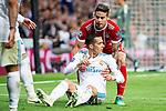 Real Madrid Lucas Vazquez and Bayern Munich James Rodriguez during Semi Finals UEFA Champions League match between Real Madrid and Bayern Munich at Santiago Bernabeu Stadium in Madrid, Spain. May 01, 2018. (ALTERPHOTOS/Borja B.Hojas)