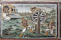 BG51504.JPG BULGARIA, BATCHKOVO MONASTERY, Refectory, 1601, frescoes