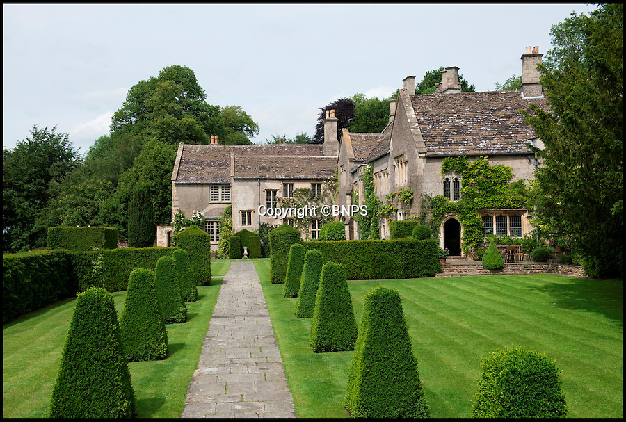 BNPS.co.uk (01202 558833)<br /> Pic: Savills/BNPS<br /> <br /> A stunning country manor where Henry VIII and Anne Boleyn stayed during a royal tour is on the open market for the first time in its 500-year history.<br /> <br /> Little Sodbury Manor still has an impressive Great Hall that would be ideal for any Tudor banquet, but it also has modern comforts, like a heated swimming pool, for those that don't fancy medieval living.<br /> <br /> The Grade I listed property, set in 83 acres of beautiful gardens with far reaching views over Sodbury Vale in rural South Gloucestershire, is up for sale with Savills for the princely sum of £8million.