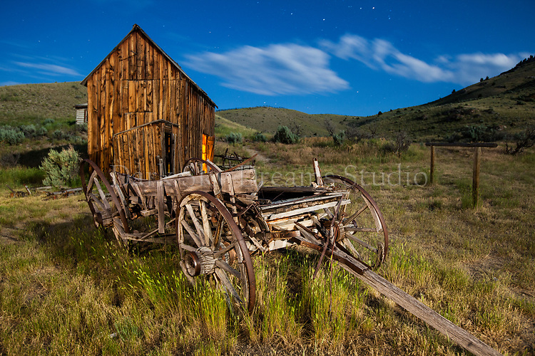 Bannack Wagon & Shed #2