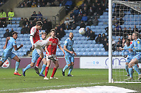 Fleetwood Town's Ched Evans scores his sides first goal  <br /> <br /> Photographer Mick Walker/CameraSport<br /> <br /> The EFL Sky Bet League One - Coventry City v Fleetwood Town - Tuesday 12th March 2019 - Ricoh Arena - Coventry<br /> <br /> World Copyright &copy; 2019 CameraSport. All rights reserved. 43 Linden Ave. Countesthorpe. Leicester. England. LE8 5PG - Tel: +44 (0) 116 277 4147 - admin@camerasport.com - www.camerasport.com