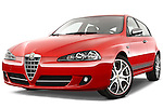 Low aggressive front three quarter view of a 2000 - 2010 Alfa Romeo 147 5 Door Ducati Corse Hatchback.
