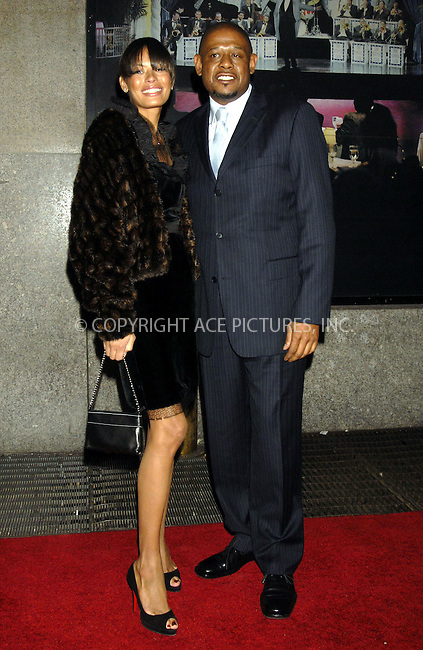 WWW.ACEPIXS.COM . . . . ....December 7, 2007, New York City....Forest Whitaker and his wife Keisha Whitaker attend the NY Film Critics Awards.....Please byline: KRISTIN CALLAHAN - ACEPIXS.COM.. . . . . . ..Ace Pictures, Inc:  ..(212) 243-8787 or (646) 679 0430..e-mail: picturedesk@acepixs.com..web: http://www.acepixs.com