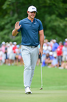 Brooks Koepka (USA) after sinking his putt on 4 during Friday's round 2 of the PGA Championship at the Quail Hollow Club in Charlotte, North Carolina. 8/11/2017.<br /> Picture: Golffile | Ken Murray<br /> <br /> <br /> All photo usage must carry mandatory copyright credit (&copy; Golffile | Ken Murray)