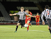 Jordan Holt shields the ball in the St Mirren v Dunfermline Athletic Clydesdale Bank Scottish Premier League U20 match played at St Mirren Park, Paisley on 2.10.12.