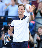 Tomas Berdych (Czech Republic) celebrates after his match versus James Duckworth (Australia) - Aegon Tennis Championships - 10/06/14 - MANDATORY CREDIT: Rob Newell - Self billing applies where appropriate - 07808 022 631 - robnew1168@aol.com - NO UNPAID USE - BACS details for payment: Rob Newell A/C 11891604 Sort Code 16-60-51