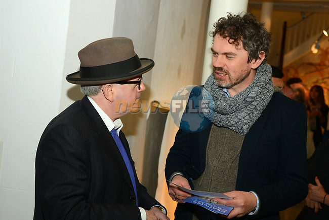 Paddy Goodwin and SJ McArdle at the launch of the Drogheda Arts Festival