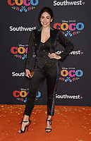 LOS ANGELES, CA - NOVEMBER 08: Actor Natalia Cordova-Buckley arrives at the premiere of Disney Pixar's 'Coco' at El Capitan Theatre on November 8, 2017 in Los Angeles, California.<br /> CAP/ROT/TM<br /> &copy;TM/ROT/Capital Pictures