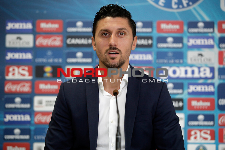 Ciprian Andrei Marica attends a press conference after his official presentation as a new Getafe player at Alfonso Perez Stadium in Getafe, Madrid, Spain. October 2, 2013. Foto © nph / Victor Blanco)