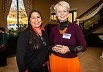 WATERBURY, CT. 13 April 2018-041318BS18 - From left, Sylvia Parker of Wallingford and Dr. Yuliya Riat ofGuilford pose for photo at the 27th Annual (TGIF) Thanks God I'm Female Women Wellness Forum put on by Waterbury Hospital at La Bella Vista on Friday evening. Bill Shettle Republican-American