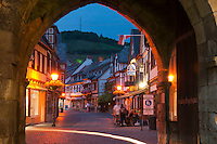 Bad Neuenahr, Ahrweiler, Rheinland Pfalz, Germany, July 2010. The historic walled town of Ahrweiler with its picturesque old traditional architecture, is surrounded by green rolling hills. The hills are covered with vineyards. The fertile river valleys and the rolling hills form the basis for some of Germany's best wines.  Photo by Frits Meyst / Adventure4ever.com