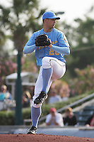 Myrtle Beach Pelicans pitcher Joe Wieland #20 on the mound during a game vs. the Kinston Indians at BB&T Coastal Field in Myrtle Beach, South Carolina on May 5, 2011.   Photo By Robert Gurganus/Four Seam Images