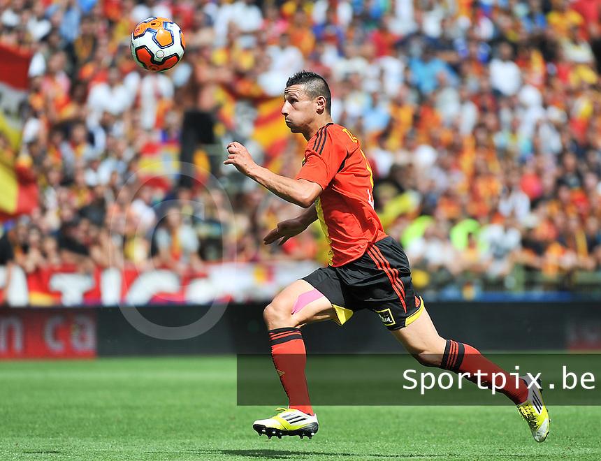 RC Lens - AJ Auxerre : Yoann Touzghar<br /> foto David Catry / nikonpro.be