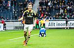 Solna 2015-04-26 Fotboll Allsvenskan AIK - &Ouml;rebro SK :  <br /> AIK:s Fredrik Brustad jublar efter sitt 3-0 m&aring;l under matchen mellan AIK och &Ouml;rebro SK <br /> (Foto: Kenta J&ouml;nsson) Nyckelord:  AIK Gnaget Friends Arena Allsvenskan &Ouml;rebro &Ouml;SK jubel gl&auml;dje lycka glad happy