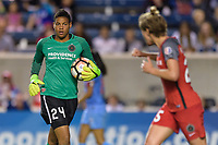 Bridgeview, IL - Saturday August 12, 2017: Adrianna Franch during a regular season National Women's Soccer League (NWSL) match between the Chicago Red Stars and the Portland Thorns FC at Toyota Park. Portland won 3-2.