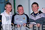 MARKING: Marking their card at Kingdom Grreyhound Stadium, Tralee on Friday night, l-r: James O' Sullivan, Kevin O'Connor and John O'Rourke(Ballyduff)...........