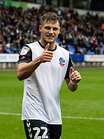 Bolton Wanderers' Dennis Politic at the end of the match<br /> <br /> Photographer Andrew Kearns/CameraSport<br /> <br /> The EFL Sky Bet Championship - Bolton Wanderers v Coventry City - Saturday 10th August 2019 - University of Bolton Stadium - Bolton<br /> <br /> World Copyright © 2019 CameraSport. All rights reserved. 43 Linden Ave. Countesthorpe. Leicester. England. LE8 5PG - Tel: +44 (0) 116 277 4147 - admin@camerasport.com - www.camerasport.com