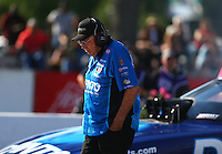 Jun 10, 2016; Englishtown, NJ, USA; NHRA funny car team owner Jim Dunn during qualifying for the Summernationals at Old Bridge Township Raceway Park. Mandatory Credit: Mark J. Rebilas-USA TODAY Sports