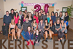 21ST WISHES: Ciara Curtin, Ballymacelligott (seated 4th left) having a great time celebrating her 21st birthday with a large group of family and friends at Strand Road clubhouse on Friday..