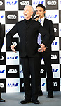 March 20, 2017, Tokyo, Japan - US movie Star Wars' C-3PO actor Anthony Daniels gestures as C-3PO robot as he attends a presentation of All Nippon Airways (ANA) C-3PO jetliner at a hanger of ANA at Tokyo's Haneda airport on Monday, March 20, 2017. C-3PO designed Boeing 777-200 jet will start domestic flight service from March 21.    (Photo by Yoshio Tsunoda/AFLO) LwX -ytd-