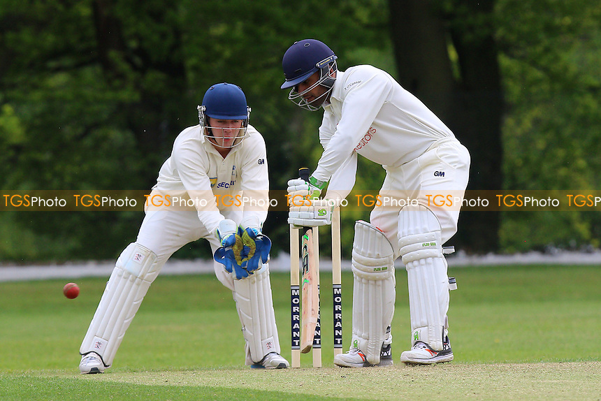 Zain Shahzad in batting action for Wanstead during Wanstead and Snaresbrook CC vs Shenfield CC, Shepherd Neame Essex League Cricket at Overton Drive on 7th May 2016