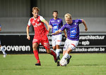 2018-08-11 / Voetbal / Seizoen 2018-2019 / Beker van Belgi&euml; / Hoogstraten VV - Wevelgem City / Bob Swaegers (l. Hoogstraten) met Rob De Leersnijder<br /> <br /> ,Foto: Mpics
