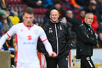 Bradford City manager Simon Grayson during the Sky Bet League 1 match between Bradford City and MK Dons at the Northern Commercial Stadium, Bradford, England on 24 April 2018. Photo by Thomas Gadd.