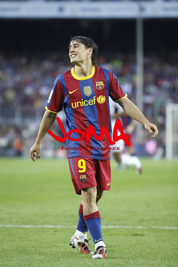3.10.10 Barcelona, Spain, La Liga , day 6 , FC Barcelona draw with Mallorca at Nou Camp 1 - 1. Bojan after shoot outside