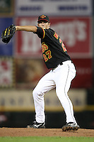 Rochester Red Wings Pitcher Kyle Waldrop (27) during a game vs. the Charlotte Knights at Frontier Field in Rochester, New York;  June 17, 2010.   Charlotte defeated Rochester by the score of 9-2.  Photo By Mike Janes/Four Seam Images