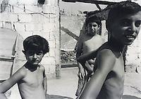 Roma boys in a village near Prizren, Kosovo.