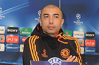 London, England - Champions League Press Conference - Chelsea v Benfica at Stamford Bridge, London April 3rd 2012..Photo by Bob Kent