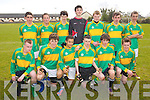 Castlegregory team who won the boys Soccer blitz in Christy Leahy, Park, Tralee on Monday  were l-r: Jordan Walsh Michael Mullally Denis O'Riordan Brandon Hoare, Jack Knix Conor Shannon. Back Andrew Hussey, Ryan O'Connor Maurice Slattery, Bryan Ciepierski, Thomas Dowling, Padraig Rohan and Timmy Walsh.
