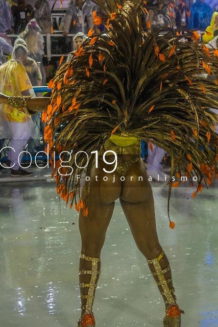 RIO DE JANEIRO (RJ) 29.02.2020 - Carnaval - Rio Escola de samba Viradouro no desfile das campeas das escolas de samba do Grupo Especial do Rio de Janeiro neste sabado (29) na Marquues de Sapucai. Destaque Luana Bandeira (Foto: Ellan Lustosa/Codigo 19/Codigo 19)
