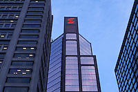 A Scotiabank branch office is pictured in Montreal Thursday October 25, 2012. he Bank of Nova Scotia, commonly called Scotiabank in English and Banque Scotia in French, is the third largest bank in Canada by deposits and market capitalization.