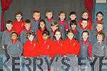 Miss Catherine Mangan class on their first day at school in Holy Cross NS Killarney on Thursday front row l-r: Evan, Sian, Hessa, Alicia, Zuzanna, Mia, Eoghan. Middle row: Daithí, Antonio, Karol, Khim, Ebrahim, Erikas, Cian. Back row: Isabella, Patryck, Alan, Emily, Eoin, Lily and Diarmaid.