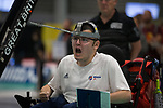 Jamie McCowan (GB)<br /> BISFed 2018 World Boccia Championships <br /> Exhibition Centre Liverpool<br /> 12.08.18<br /> ©Steve Pope<br /> Sportingwales