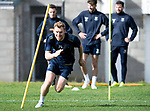 St Johnstone Training….Liam Craig pictured during training at McDiarmid Park ahead of Sundays game against Celtic.<br />