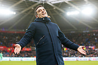 Swansea City manager Carlos Carvalhal during the Premier League match between Swansea City and Burnley at the Liberty Stadium, Swansea, Wales, UK. Saturday 10 February 2018