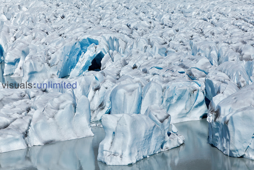 Aerial view of Kinik Glacier, Alaska, USA