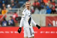 Bridgeview, IL - Saturday April 14, 2018: Zlatan Ibrahimovic during a regular season Major League Soccer (MLS) match between the Chicago Fire and the LA Galaxy at Toyota Park.  The LA Galaxy defeated the Chicago Fire by the score of 1-0.