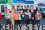 Jerome Griffin, staff and customers celebrate the official opening of XL Griffin's Supermarket in Castlemaine village on Friday