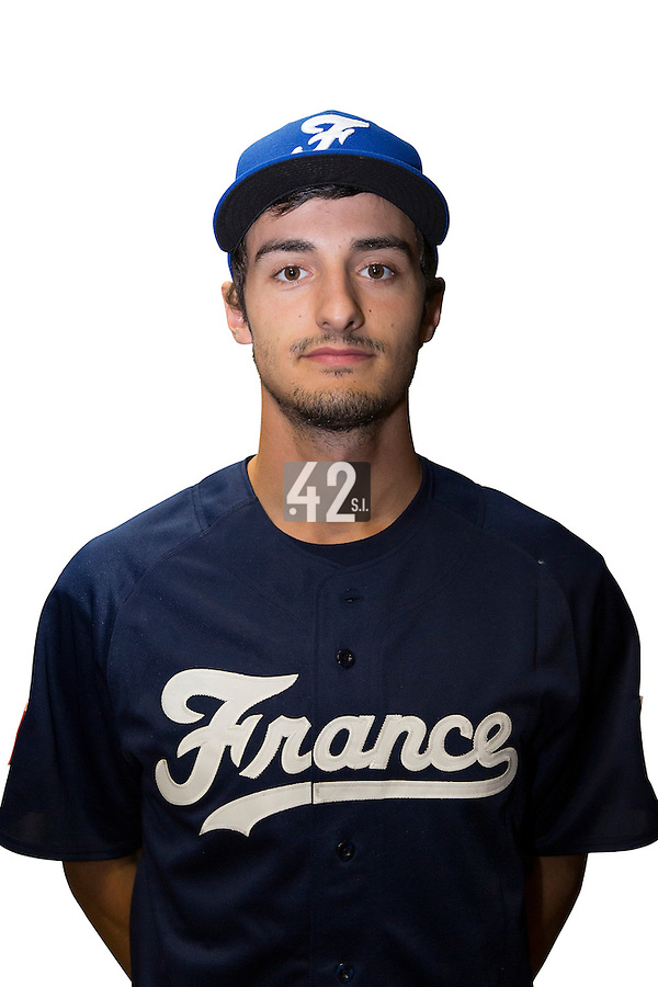 18 September 2012: Eloi Secleppe poses prior to Team France practice, at the 2012 World Baseball Classic Qualifier round, in Jupiter, Florida, USA.