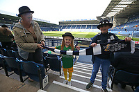 Preston North End fans dressed for their Gentry Day outing support their team<br /> <br /> Photographer Stephen White/CameraSport<br /> <br /> The EFL Sky Bet Championship - West Bromwich Albion v Preston North End - Saturday 13th April 2019 - The Hawthorns - West Bromwich<br /> <br /> World Copyright © 2019 CameraSport. All rights reserved. 43 Linden Ave. Countesthorpe. Leicester. England. LE8 5PG - Tel: +44 (0) 116 277 4147 - admin@camerasport.com - www.camerasport.com