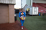 Clyde versus Edinburgh City, SPFL League 2 game at Broadwood Stadium, Cumbernauld. The match ended 0-0, watched by a crowd of 461. Photo shows an Edinburgh City fan dressed as Superman with some half-time refreshments.