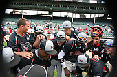 August 8, 2009:  Baseball Factory celebrates after winning the Under Armour All-America game at Wrigley Field in Chicago, Illinois.  (Copyright Mike Janes Photography)