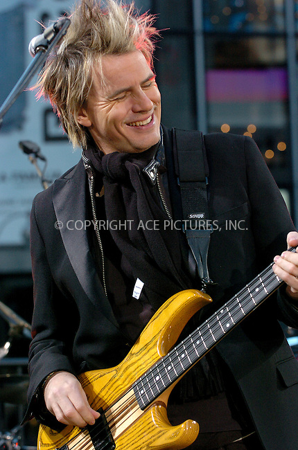 WWW.ACEPIXS.COM . . . . .  ....NEW YORK, OCTOBER 12, 2004....John Taylor appears on Good Morning America to launch the new Duran Duran album Astronaut. ..Please byline: AJ Sokalner - ACE PICTURES..... *** ***..Ace Pictures, Inc:  ..Alecsey Boldeskul (646) 267-6913 ..Philip Vaughan (646) 769-0430..e-mail: info@acepixs.com..web: http://www.acepixs.com