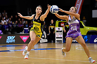 Stars&rsquo; Mila Reuelu-Buchanan and Pulse&rsquo; Karin Burger in action during the ANZ Premiership - Pulse v Stars at TSB Arena, Wellington, New Zealand on Monday 13 May 2019. <br /> Photo by Masanori Udagawa. <br /> www.photowellington.photoshelter.com